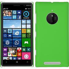Hardcase für  Nokia Lumia 830 Hülle grün gummiert + 2 Schutzfolien