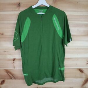 Endura Singletrack Fleece MTB Jersey Green XL