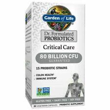 Garden Of Life Probiotics Critical Care 80 Billion CFU 30 Capsules EXP 2/2022