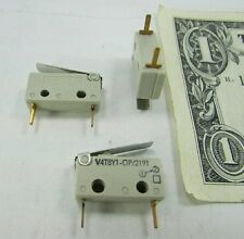 Lot 10 Burgess Subminiature Stainless Lever Micro Switches, V4T8Y1-GP/2191 SPDT