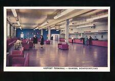 Canada Newfoundland GANDER Airport Terminal c1950/60s? PPC