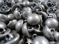 M214 - BABY&LARGE ANTIQUE SILVER HALF BALL METAL ITALIAN BUTTONS 12-18-20-25mm