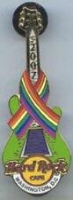 Hard Rock Cafe WASHINGTON DC 2007 GAY PRIDE PIN Rainbow Ribbon GUITAR HRC #38233