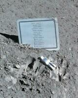 Plaque and Fallen Astronaut Left on Moon Apollo 15 Mission 8x10 Photo