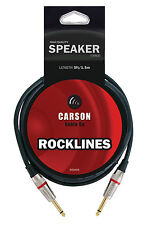 RSH05 CARSON ROCKLINES 5ft SPEAKER CABLE LEAD HIGH QUALITY AMP SPEAKER CABLE NEW