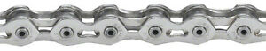 """KMC K710SL FIXED--BMX BICYCLE SILVER 1/2"""" X 1/8""""  100 LINK CHAIN"""