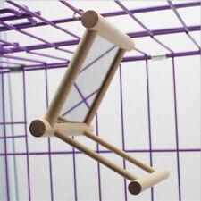 New listing Wooden  00006000 Funny Bird Toy Mirror Stand Platform For Parrots Cockatiel Vogel Craft