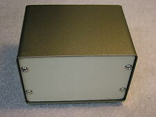Steel Project Box / Case. 157 x 107 x 115 mm. On 4 Feet. 2 Screw on Panels.