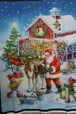 Christmas Ready Rudolph digitally printed 100% cotton fabric panel 35 x 43