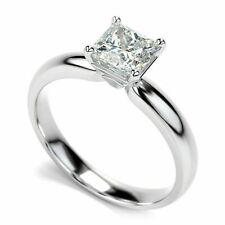 2CT Princess-Cut Diamond Solitaire Engagement Ring 10k white Gold Finish