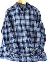 Eddie Bauer Mens Classic Fit L/S Flannel Plaid Cotton Button Front Shirt XXL