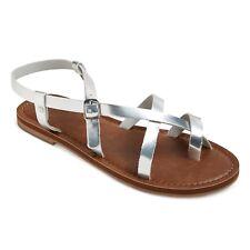 Mossimo Womens Lavinia Toe Wrap Thong Sandal Universal Thread Silver, Size 6 1/2