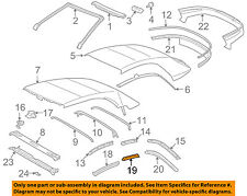 TOYOTA OEM 04-08 Solara Convertible/soft Top-Weatherstrip Seal Left 6238406010