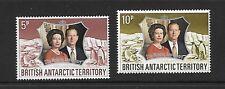 British ANTARCTIC TERR. SG42/3 1972 Argento Matrimonio Gomma integra, non linguellato