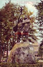 PORTLAND, OR. COMING OF THE WHITE MAN statue in CITY PARK 1911