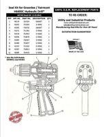 Seal Kit - Greenlee / Fairmont H6400C Hydraulic Drill Seal Kit No. 40749