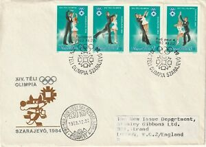 1983 Hungary FDC cover Winter Olympic Games - Sarajevo 1984