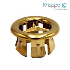 KNOPPO® Waschbecken Überlauf Abdeckung / Design Überlaufblende - Star (gold)