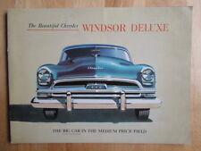 CHRYSLER Windsor De Luxe 1954 USA Mkt prestige sales brochure - Newport, Wagon