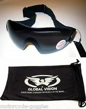 Padded Smoke Tinted Motorcycle Goggle Googles Skydiving Biker Riding Day Sunny