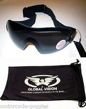 Padded Smoke Tinted Motorcycle Goggle Googles Skydiving Biker Riding Day Sunny