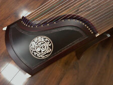 21-String Rosewood Guzheng, Chinese Zither Harp Instrument, Koto