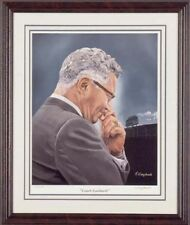Vince Lombardi Signed by Artist Green Bay Packers NFL HOF Art Litho Print Nice