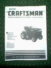 SEARS CRAFTSMAN TRACTOR / RIDING MOWER MODEL # 917255980 0WNER'S MANUAL