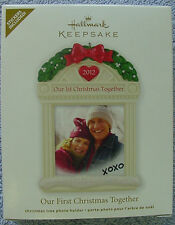 NEW IN BOX 2012 HALLMARK ORNAMENT OUR FIRST CHRISTMAS TOGETHER PHOTO HOLDER