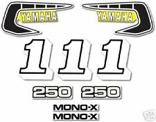 YAMAHA 1981 YZ250 DECAL GRAPHIC KIT LIKE NOS ( 1980 Competition model )