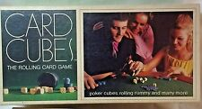Card Cubes Wood Playing Card Dice, Chips Cup  # 95   SelRigh Co.1970  USA boxed
