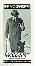 PUBLICITE ADVERTISING 115  1964  MOSSANT manteau imperméable homme ELEGANCE-PLUI