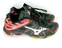 Mizuno Women Wave Lightning Z SR Touch Volleyball Shoes Sz W9 Red Black Sneaker