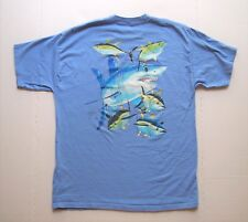 Guy Harvey Youth Short Sleeve Graphic T-Shirt Size XL (18-20) Blue