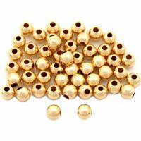 50 Pcs 14K Gold Filled Ball Beads 3mm