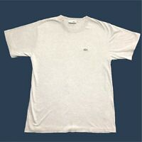 Mens Vintage Lacoste T Shirt Medium/3 Grey Short Sleeve