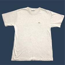 Hombre Vintage Lacoste camiseta Medio/3 gris de manga corta