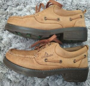 Women's Colorado Leather Boat Casual Shoes Size 9 Colour Tan