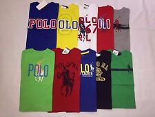 NEW WITH TAGS POLO RALPH LAUREN BOY'S GRAPHIC SHORT.SLEEVE T.SHIRTS