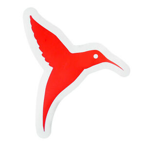 Ushuaia Ibiza Club Sticker Large Hummingbird Logo Red Avicii Hardwell OFFICIAL