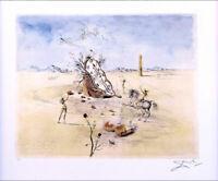 Salvador Dali Cosmic Horseman Facsimile Signed Litho Art Print + COA