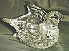 Pretty & Perfect CLEAR GLASS BIRD CANDLE HOLDER / CATCH-ALL by AVON