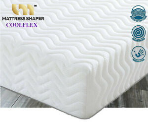 """MEMORY FOAM ORTHO MATTRESS DOUBLE KING 2ft 6in Depth  6"""" COOLFLEX QUILTED"""