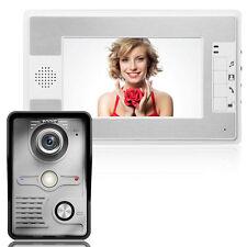 "Waterproof 7"" Video Doorbell Home Door Phone Intercom Visual Camera Monitor AU!"