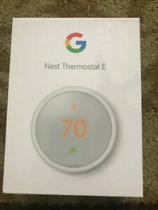 Google Nest Thermostat E Programmable White T4000ES NEW & SEALED