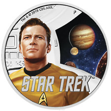 2019 Star Trek THE ORIGINAL SERIES – KIRK 1oz $1 .9999 Silver Proof Coin