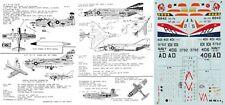 MICROSCALE DECALS 1/72 A-1H Skyraider A-7E Corsair F-4J Phantom F4U Corsair(USN)