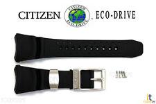 Citizen Eco-Drive BJ8050-08E Black Rubber Watch Band BJ8051-05E w/ Screws