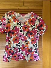 Beyondscrubs Cotton:spandex Color Pattern Flowers Scrub Top 2Xl Like Extra Large