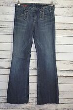 Citizens of Humanity Blue Jeans CADET Low Waist Wide Leg Stretch Dark Wash 26